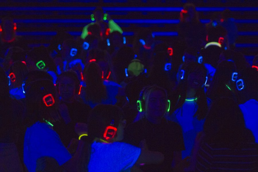 The dance floor was filled with neon lights and a silent disco.  Jacky Chen | The Falcon