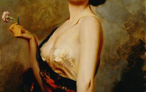 Leopold Schmutzler. Woman in Costume, ca. 1910. Oil on canvas. 41 x 29 in. Founding Collection, Gift of Charles and Emma Frye, 1952.151.