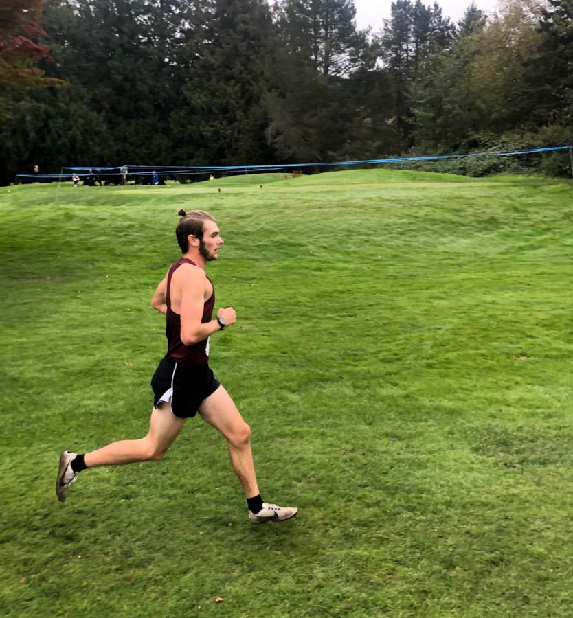 Jacob Allmaras continues along the course at the Western Washington Classic in Bellingham, WA.