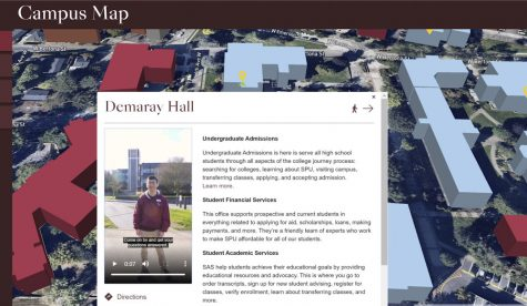 a screenshot of a virtual tour of Seattle Pacific University