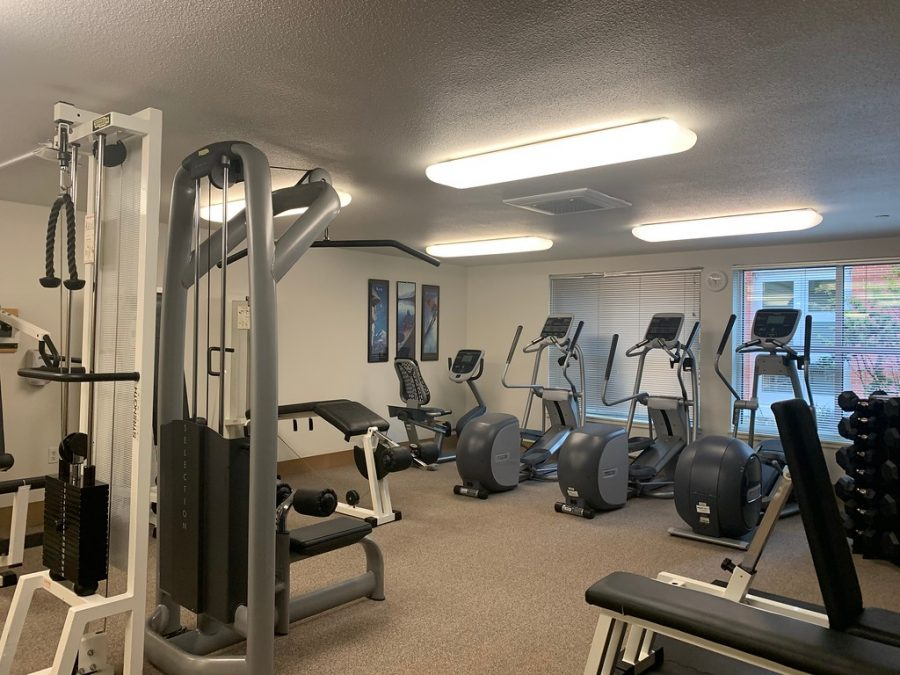 An empty workout room