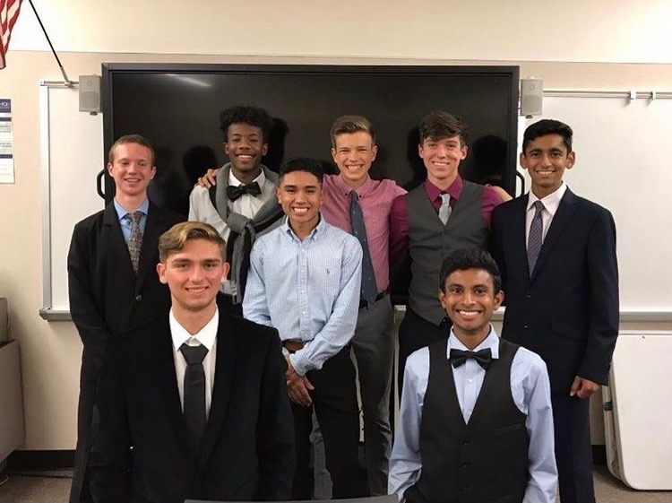 Kyle Morrison with the 2018 Dublin High School varsity boys cross country team that got 4th in the state of California.