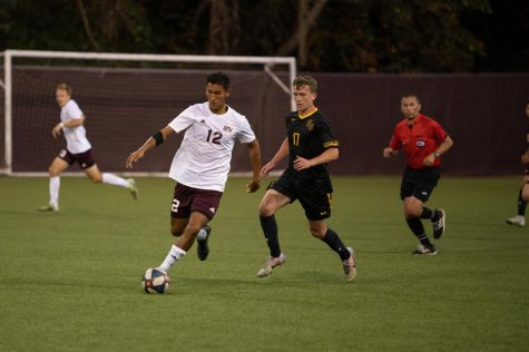 SPU Mens Soccer player Alex Mejia at their game against Pacific Lutheran University. (Courtesy of Marissa Lordahl)